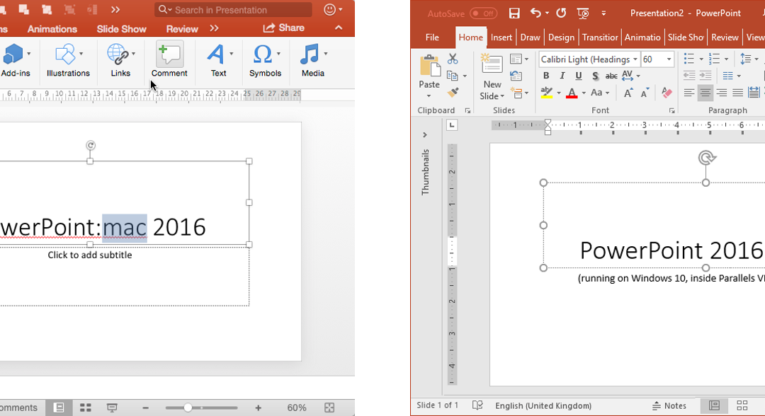 PowerPoint Mac or PowerPoint PC (on Parallels VM)?