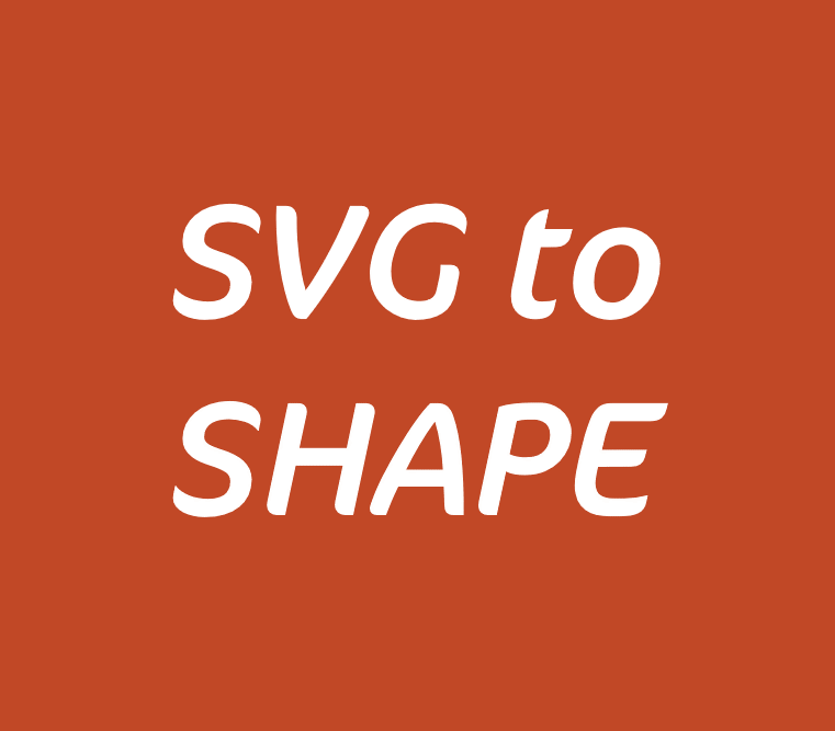 Insert SVG and ungroup to create separate editable PowerPoint objects