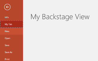 Customising PowerPoint 2016 Backstage view