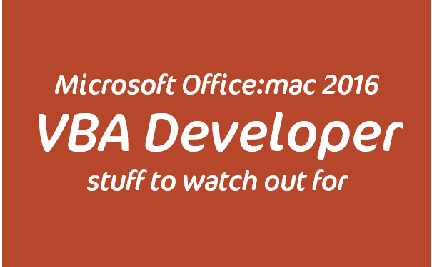 Developing with VBA on PowerPoint Mac