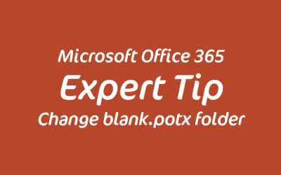 Change default template location for PowerPoint blank.potx
